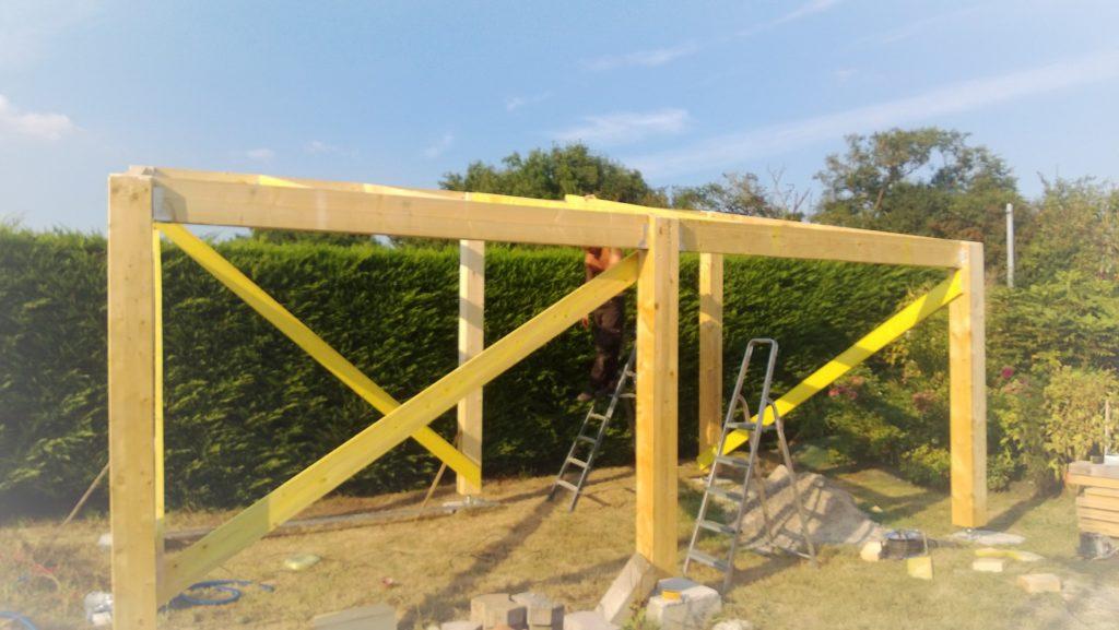 construction d'un garage photovoltaïque