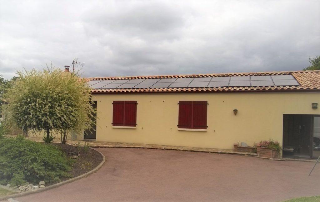 réalisation aérovoltaique toiture tuile